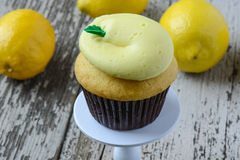 Lemon Cupcake Stock Photo