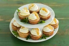 Lemon cupcakes Stock Image