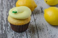 Lemon Cupcakes Stock Images
