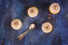Lemon cupcakes with meringue Stock Photography