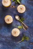 Lemon cupcakes with meringue Stock Images