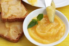 Lemon curd Stock Images