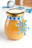 Lemon curd as a gift Royalty Free Stock Photos