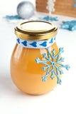 Lemon curd as a gift Royalty Free Stock Photos