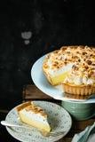 Lemon curd cake Royalty Free Stock Images