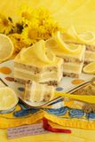 Lemon curd cake Royalty Free Stock Photography