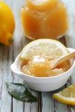 Lemon curd cream made from organic lemons Stock Photography
