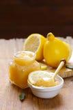 Lemon curd cream made from organic lemons Stock Images