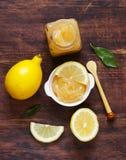 Lemon curd cream made from organic lemons Royalty Free Stock Photo