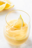 Lemon curd in glass Stock Photos