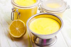 Lemon curd Royalty Free Stock Photos
