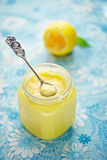 Lemon curd and lemon Royalty Free Stock Images