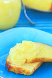 Lemon Curd on Lemon Pound Cake Stock Photos