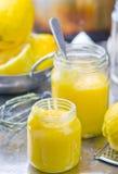 The lemon curd Stock Photos