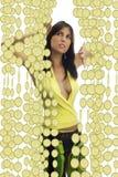 The lemon curtain stock image