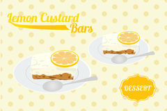 Lemon Custard Bar Stock Images