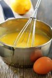 Lemon custard in the dipper. Stock Photos