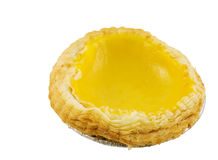 Lemon Custard Tart Stock Photo