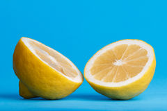 Lemon cut in half Royalty Free Stock Photo