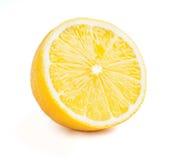 Lemon cut half slice isolated Stock Photos