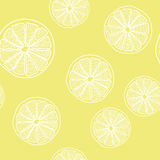 Lemon cut pattern Royalty Free Stock Image