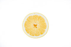 Lemon in a cut on a white background Stock Image