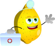 Lemon doctor with first aid kit Royalty Free Stock Images