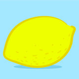 Lemon - doodle Stock Photography