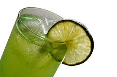 Lemon drink. With lime slice on side as decoration Royalty Free Stock Images