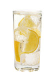 Lemon drink. On a white background Stock Images