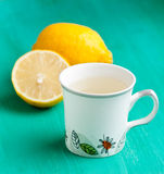 Lemon drink. In a cup Stock Photos