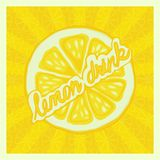 Lemon drink background - vector illustration Royalty Free Stock Photos