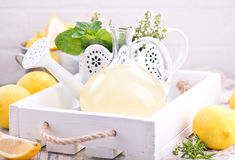 Lemon drink Stock Images