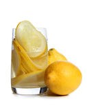 Lemon drink glass Royalty Free Stock Photo