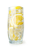 Lemon drink with ice cubes Stock Photography