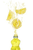 Lemon drink splash Royalty Free Stock Image