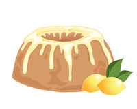 Lemon drizzle cake Stock Image