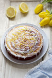 Lemon drizzle cake Royalty Free Stock Images