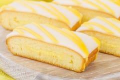 Lemon Drizzle Cake Stock Image