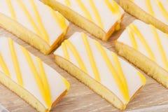 Lemon Drizzle Cake Royalty Free Stock Image