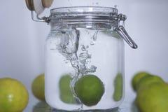 Lemon drop in the bottle. Royalty Free Stock Image