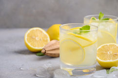 Lemon drop cocktail. Selective focus, copy space stock photography