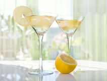 Lemon Drop Martini. In glass Stock Photos