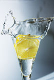 Lemon drops in a glass Royalty Free Stock Image