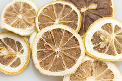 Lemon Dry. Cut lemon, tan dry, is used to flood damage drinking Royalty Free Stock Image