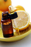 Lemon essential oil Stock Photography