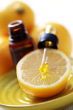 Lemon essential oil Stock Photos