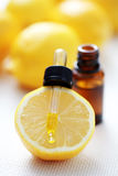 Lemon essential oil Royalty Free Stock Photography