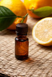 Lemon essential oil Stock Image