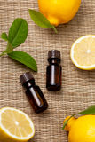 Lemon essential oil Stock Photo